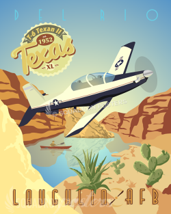 Laughlin AFB T-6 Texan II poster art