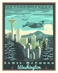 JB McChord C-17 Globemaster III poster art