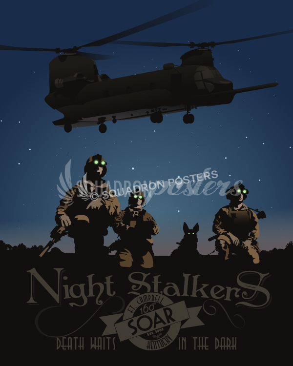 160th SOAR Chinook Night Stalkers Squadron Posters