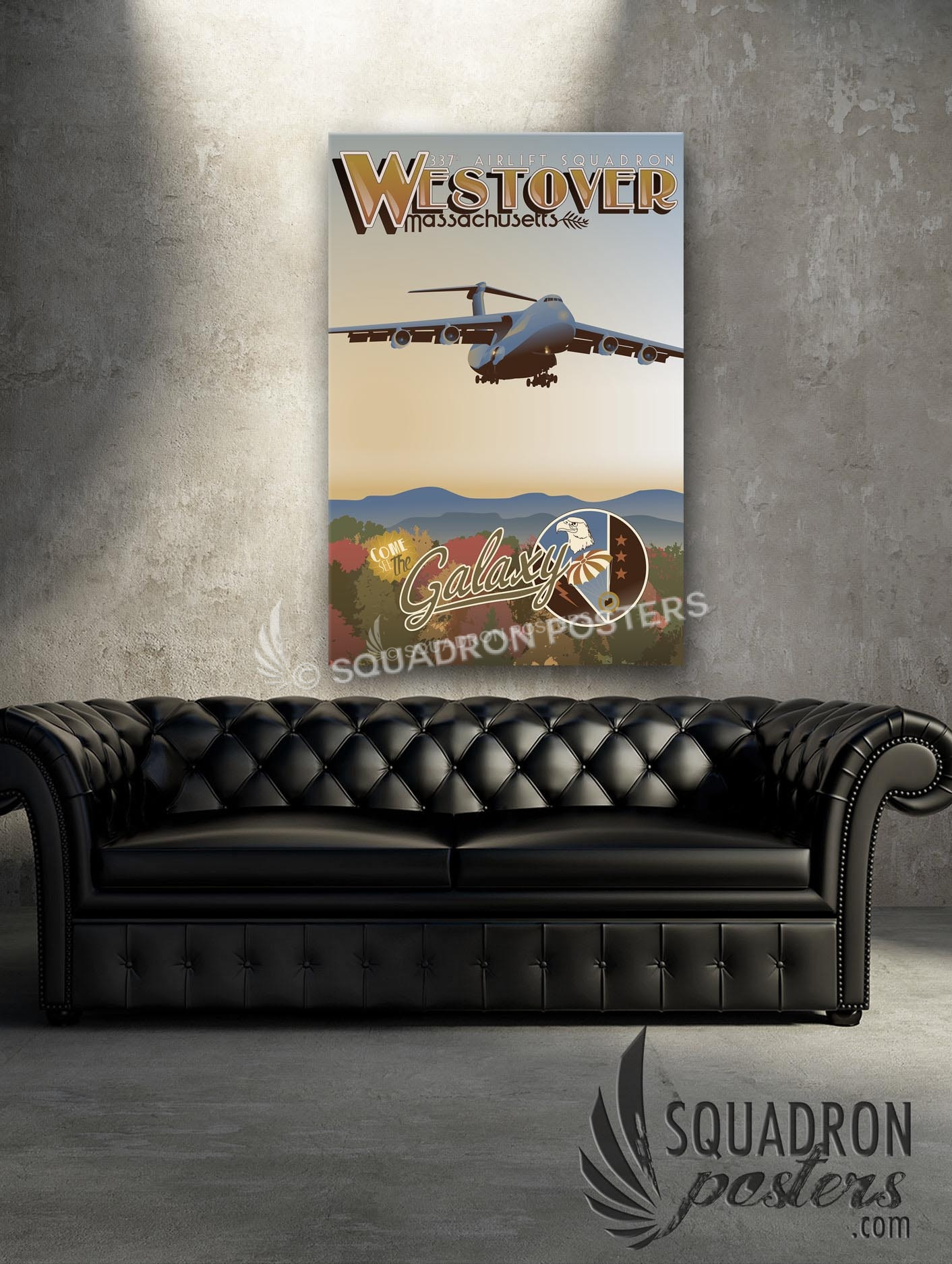 westover arb 337th as c 5 squadron posters 337th c5 20x30 sp00543 vintage military aviation canvas travel print