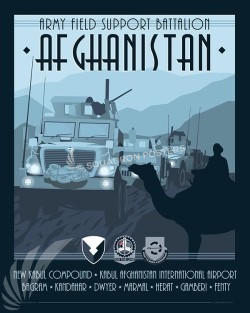 Come See Afghanistan 401st AFSB 401st Support BrigadeSP00583-vintage-military-aviation-travel-poster-art-print-gift
