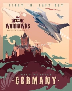 480 FS F-16 Germany Warhawks SP00520-vintage-military-aviation-travel-poster-art-print-gift
