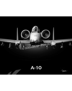 A-10 Jet Black Warthog Nose SP00979-featured-canvas-lithograph