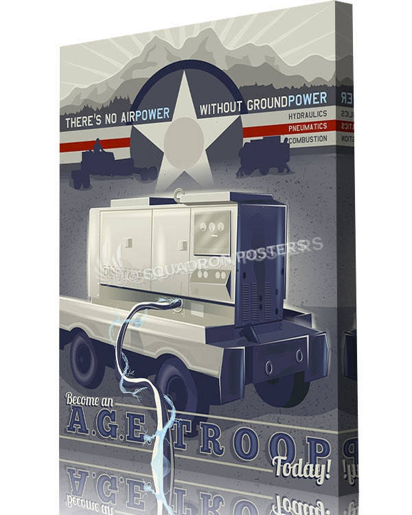 USAF A.G.E. Technician art by - Squadron Posters