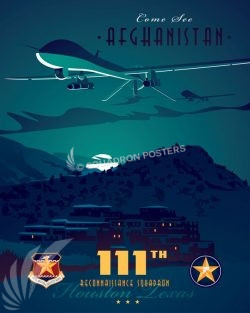 Come See Afghanistan 111 RS afghanistan_mq-1_111_rs_sp01177-featured-aircraft-lithograph-vintage-airplane-poster-art