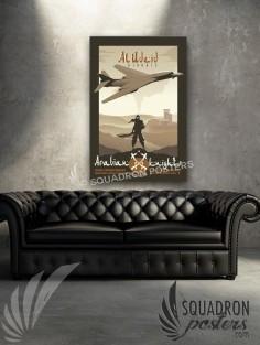 Al Udeid B-1 379 EOSS 20x30 SP00504-vintage-military-aviation-canvas-travel-print-gift