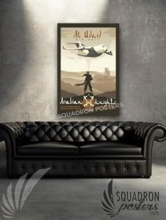Al Udeid C-17 379 EOSS 20x30 SP00503-vintage-military-aviation-canvas-travel-print-gift