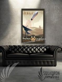 Al Udeid Satellite 379 EOSS 20x30 SP00501-vintage-military-aviation-canvas-travel-print-gift