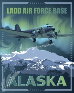Alaska Ladd AFB C-47 SP00653 feature-vintage-print