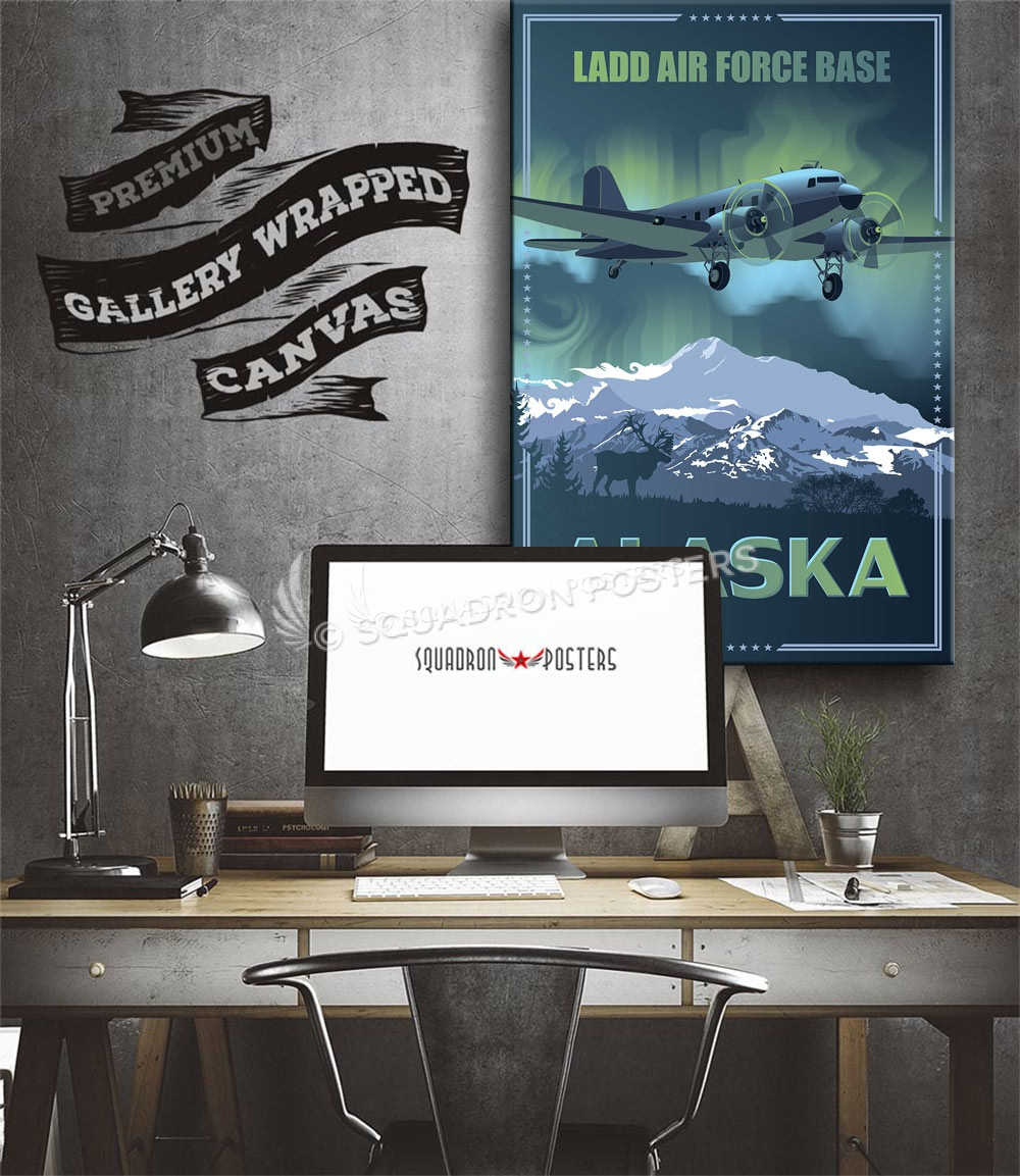 ladd afb alaska c 47 squadron posters