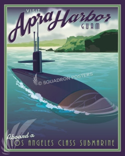 Apra_Harbor_Guam_Sub_SP00921-featured-sub-lithograph-vintage-naval-poster-art