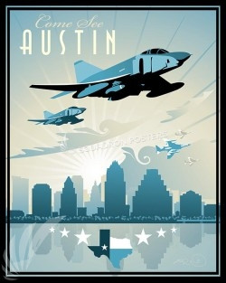 Come See Austin Texas RF-4C Come See Austin Tx RF-4C SP00591-vintage-military-aviation-travel-poster-art-print-gift
