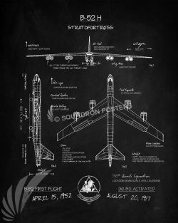 B-52 96th Bomb Squadron Blackboard Art B-52-96-bomb-squadron-poster-blackboard-SP01352-featured-aircraft-lithograph-vintage-airplane-poster-art