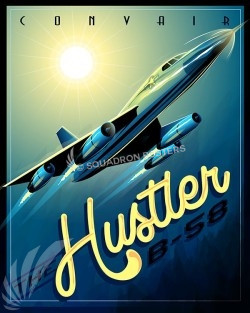B-58 Hustler SP00533-vintage-military-aviation-travel-poster-art-print-gift