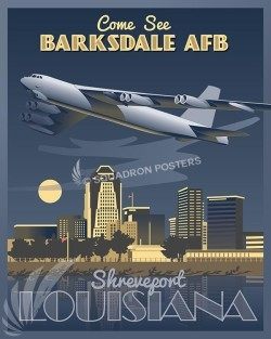Barksdale AFB B-52 16x20 v2 SP00456-vintage-military-aviation-travel-poster-art-print-gift