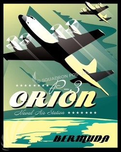 NAS Bermuda - P-3 Orion Bermuda P-3 Orion SP00554-vintage-military-aviation-travel-poster-art-print-gift