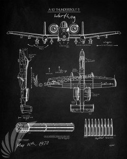 BlackBoard_A-10_SP00837-featured-aircraft-lithograph-vintage-airplane-poster-art