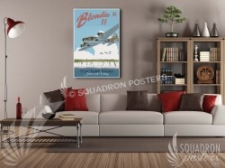 Blondie B-17 95 Bomb Group SP00632-vintage-military-aviation-canvas-travel-retro