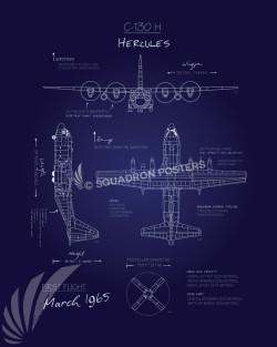 C-130H Blueprint SP00636 feature-vintage-print