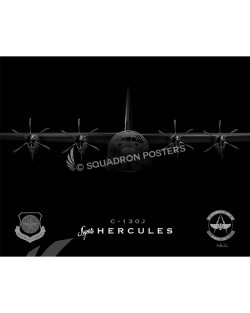C-130J 43 AES SP00763 FEAT-jet-black-aircraft-lithograph-print