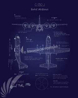 C-130J Blueprint SP00671 feature-vintage-print
