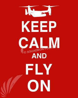 CV-22 Keep-Calm-Fly-On-Red-vintage style-poster-art