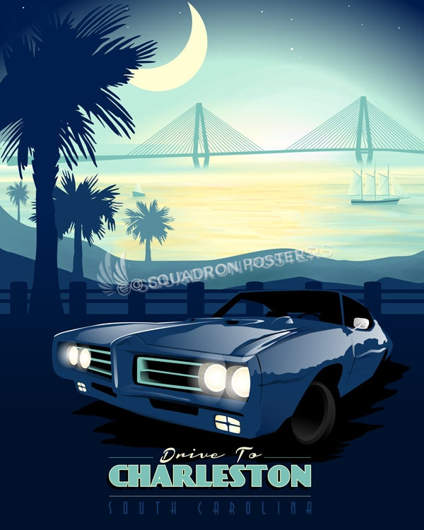 charleston-south-carolina-palmetto-travel-poster-pontiac-gto-judge-print-gift