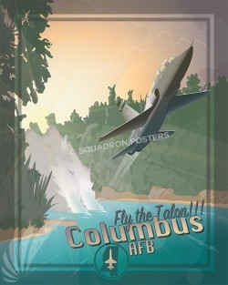 Talon Columbus AFB Columbus T38 SP00604 military aviation travel poster print gift