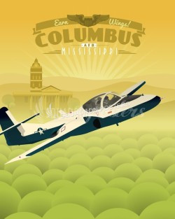 columbus-afb-t-37-tweet-military-poster-art