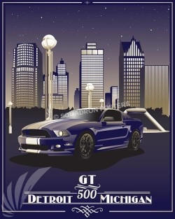ford-mustang-gt-500-detoit-city-skyline-poster-print