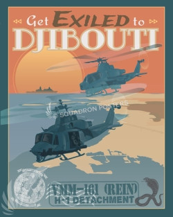 Djibouti Djibouti_Huey_VMM-161_SP00876-featured-aircraft-lithograph-vintage-airplane-poster-art