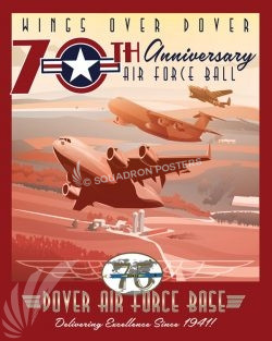 Dover AFB 70 Anniversary Air Force Ball Dover_AFB_C-17_C-5_B-25_70_Anniversary_AF_Ball_SP01437-featured-aircraft-lithograph-vintage-airplane-poster-art