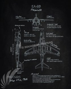 EA-6B Prowler Blackboard Art EA-6B_Prowler_Blackboard_R1_SP01284-featured-aircraft-lithograph-vintage-airplane-poster-art