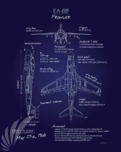 EA-6B_Prowler_Blueprint_SP00942-featured-aircraft-lithograph-vintage-airplane-poster-art