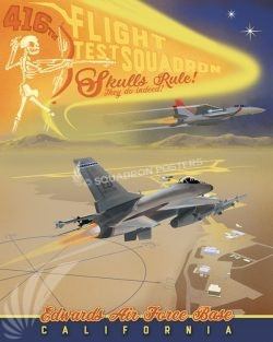 Edwards AFB 416th FLTS Edwards_AFB_416_FLTS_SP01298-featured-aircraft-lithograph-vintage-airplane-poster-art
