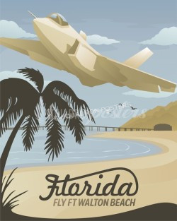 Eglin-F-35-ft-walton-beach-travel-poster