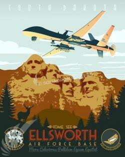 Ellsworth AFB - 89th ATKS, MQ-9 Reaper Ellsworth_AFB_89_ATKS_MQ-9_SP01337-featured-aircraft-lithograph-vintage-airplane-poster-art