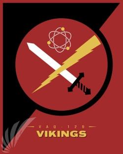 Emblem VAQ-129 Vikings SP00668 feature-vintage-print