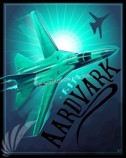 F-111 Aardvark SP00535-vintage-military-aviation-travel-poster-art-print-gift