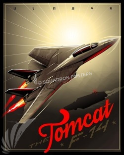 F-14 Tomcat SP00537-vintage-military-aviation-travel-poster-art-print-gift