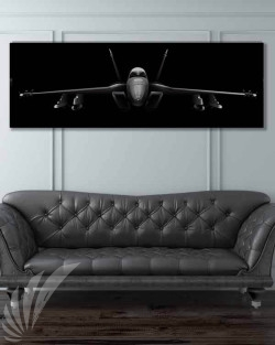 F-18 super hornet Jet Black Wide-SP00838-featured-image-military-canvas-print