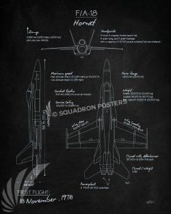 F-18 Hornet Blackboard f-18_hornet_blackboard_sp01153-featured-aircraft-lithograph-vintage-airplane-poster-art