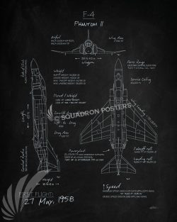 F-4 Phantom Blackboard Art F-4_Phantom_II_Blackboard_SP01244-featured-aircraft-lithograph-vintage-airplane-poster-art