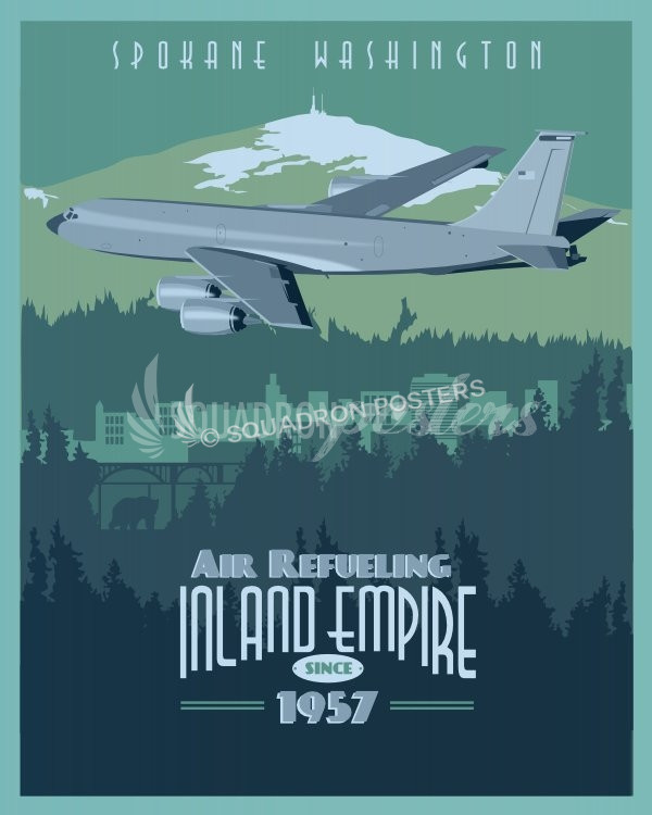 Fairchild Afb 92d Ars Kc 135 Print Squadron Posters