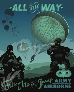 Army Airborne Poster Art Feature Airborne-military-vintage style aviation-poster-art-prints
