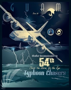 guam-54th-typhoon-chasers-c-130e-military-aviation-porter-art-print