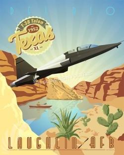 laughlin-t-38v2-military-aviation-poster-art-print