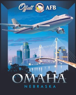 Offutt AFB 1st ACCS E-4B poster art
