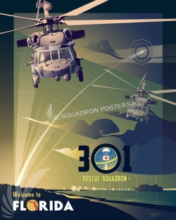 Patrick AFB 301 RQS Florida_MH-60_301_RQS_SP01005-featured-aircraft-lithograph-vintage-airplane-poster-art