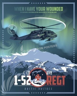 Fort Wainwright C co 1-52 UH-60L 16x20 SP00510-vintage-military-aviation-travel-poster-art-print-gift